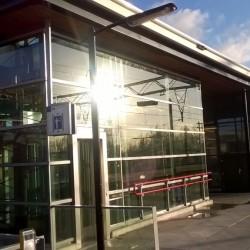 Staal Geluidsscherm windscherm station
